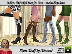 Sims 3 boots, shoes, female, teen