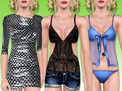 Sims 3 teen, fashion, clothing, sleepwear, outfit