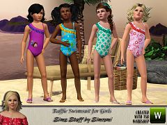 Sims 3 swimsuit, swim, clothing, girls