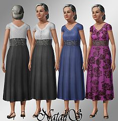 Sims 3 dress, elder, female