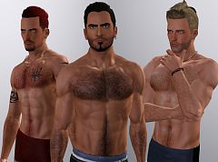 Sims 3 body, hair, genetics, male