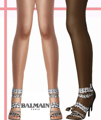 Sims 3 heels, shoes, sandals, rhinestones
