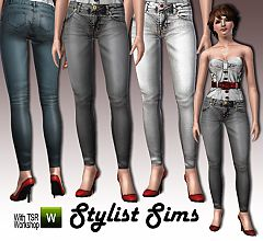 Sims 3 skinny, acid, jeans, denim