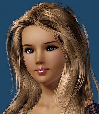 Sims 3 mascara, lash, makeup, female
