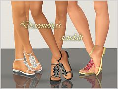 Sims 3 sandals, leather, shoes, flats