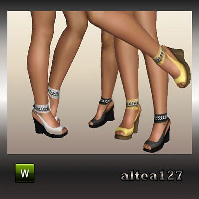 Sims 3 shoes, sandals, platforms, wedge