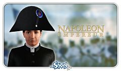 Sims 3 hat, accessories, male, Napoleon
