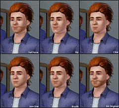 Sims 3 hair, facial, beard