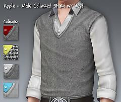 Sims 3 men, sweater, vest, shirt, cardigan