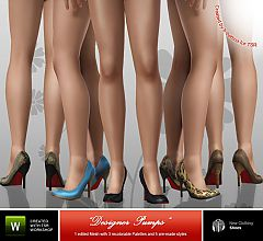 Sims 3 shoes, pumps, heels