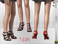Sims 3 shoes, high heels, sandals, straps