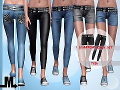Sims 3 jeans, bottom, fashion, clothing, female, teen