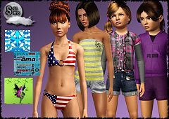 Sims 3 cloth, clothes, fashion, female