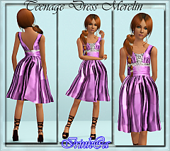 Sims 3 dress, casual, fashion, female, teen