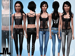Sims 3 outfit, fashion, clothing, female, teen