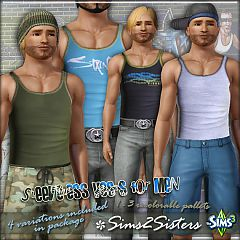 Sims 3 vest, top, sleevless, male, clothing