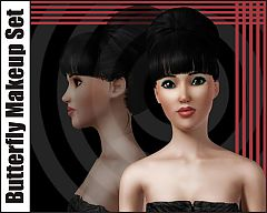 Sims 3 makeup, blush, eyeshadow, female, fashion