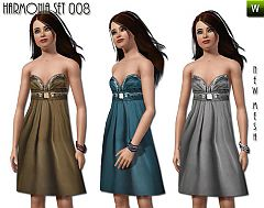 Sims 3 dress, gown, embelished, gown, formal, female