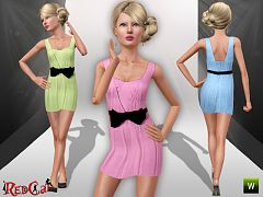 Sims 3 dress, casual, fashion, female, ribbon, tulle
