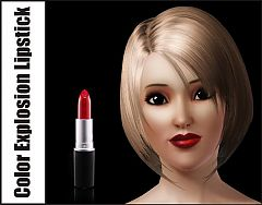 Sims 3 lips, lipstick, female, makeup