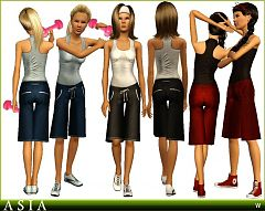 Sims 3 sport, athletic, clothing, fashion, outfit, female