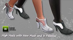 Sims 3 shoes, heels, trendy, female