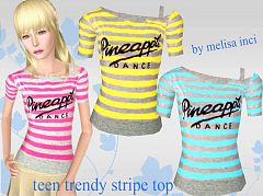 Sims 3 top, cloth, fashion