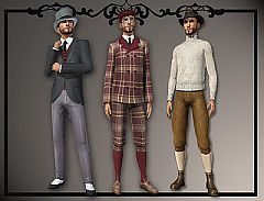 Sims 3 victorian,clothing, peacoat, sweater, knickers, ma