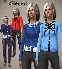 Sims 3 elegant, blouse, sweater, trim