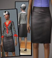 Sims 3 pencil skirt, leather, pants, jeans, elder