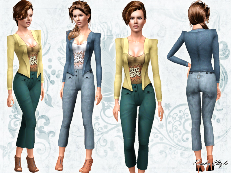 Sims 3 red dress casual