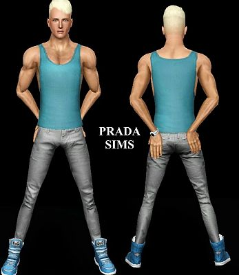 Sims 3 tank, top, clothing, male
