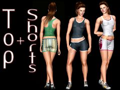 Sims 3 outfit, fashion, clothing, female, athletic