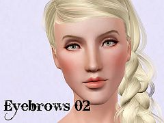Sims 3 eyebrows, brows, female, genetics