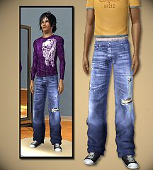 Sims 3 jeans, relaxed, baggy