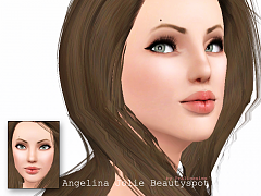 Sims 3 beautyspot, costume makeup, makeup, female