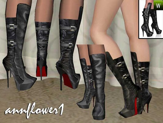 Sims 3 shoes, high heels, boots
