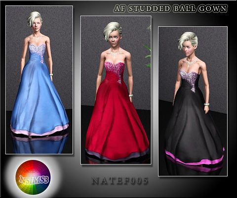 Sims 3 dress, fashion, clothing, female, formal, gown