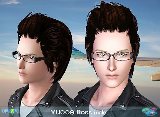 Sims 3 hair, hairstyle, genetics, male