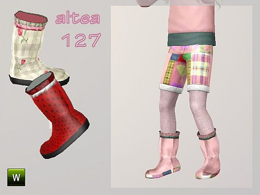 Sims 3 shoes, boots, children