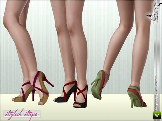 Sims 3 shoes, footwear