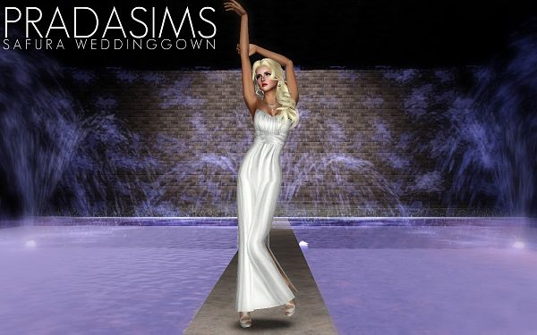 Sims 3 dress, gown, wedding,, formal, fashion