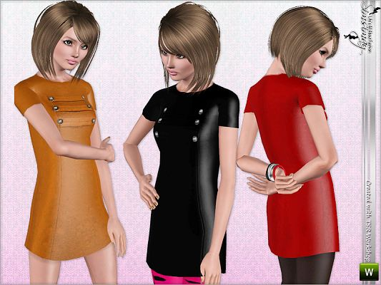 Sims 3 tunic, top, clothing, girls, dress