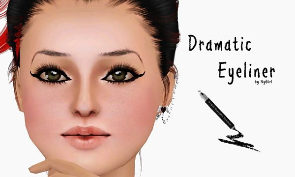Sims 3 eyes, eyeliner, makeup, cosmetics