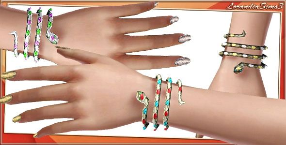 Sims 3 bracelet, jewelry, accessories, snake
