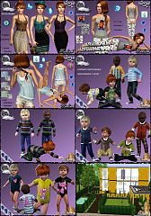 Sims 3 dress, fashion, clothing, toddler