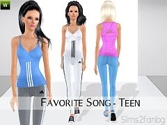 Sims 3 clothing, fashion, outfit, female, athletic