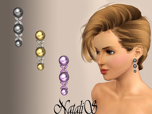 Sims 3 earrings, jewelry, accessories, female