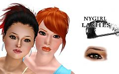Sims 3 eyeliner, makeup, female