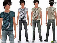 Sims 3 clothing, fashion, outfit, male, jeans, teen